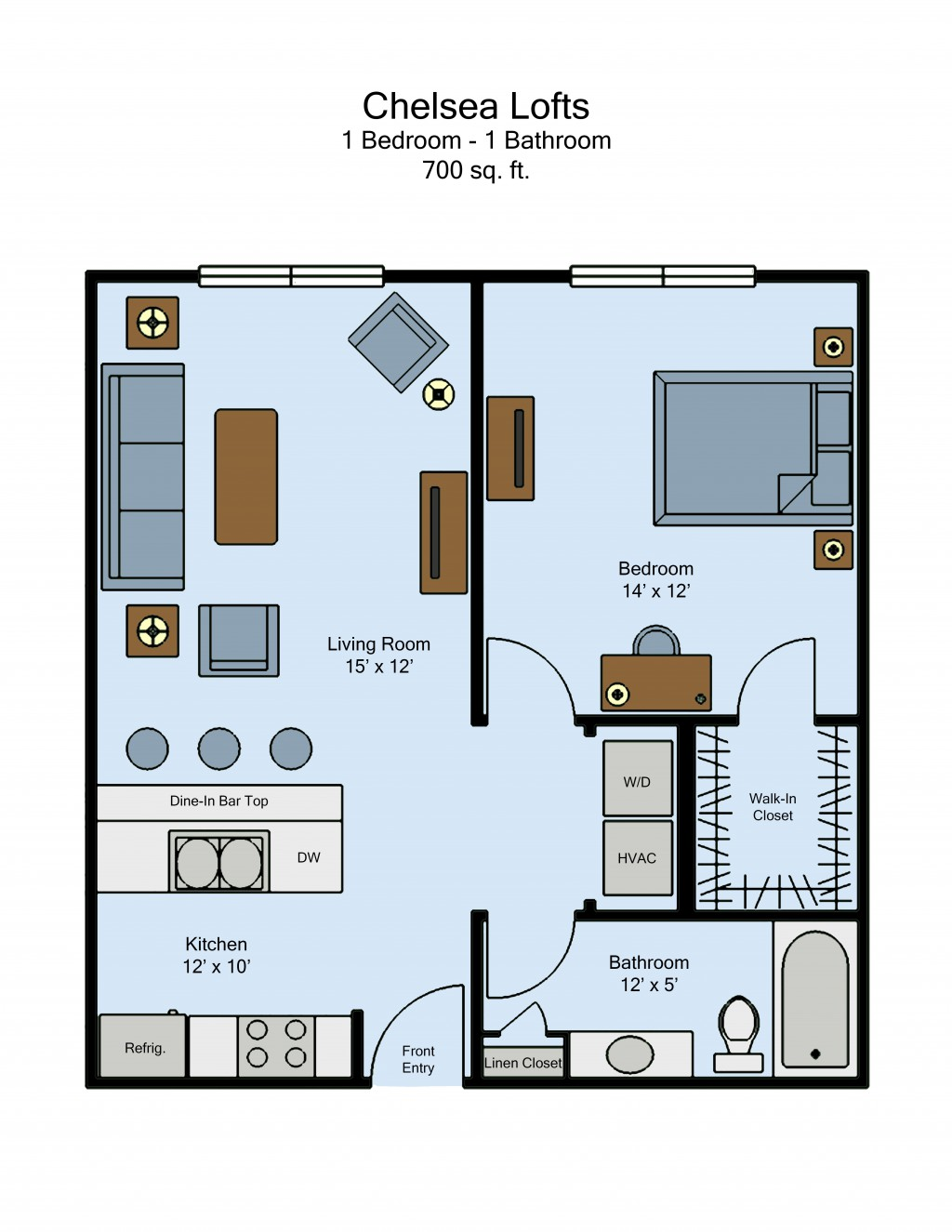 Chelsea Lofts - 1-Bed